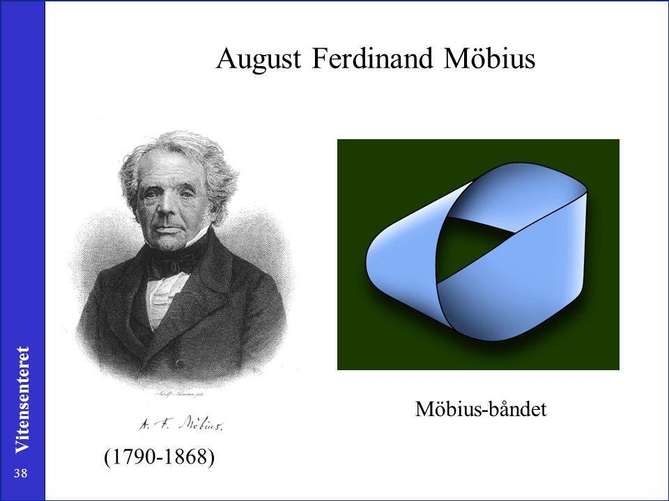 38 Vitensenteret I skrivebordsskuffen til Möbius fant man etter hans død, et papir som bare hadde en side og en kant. August Ferdinand Möbius Möbius-b