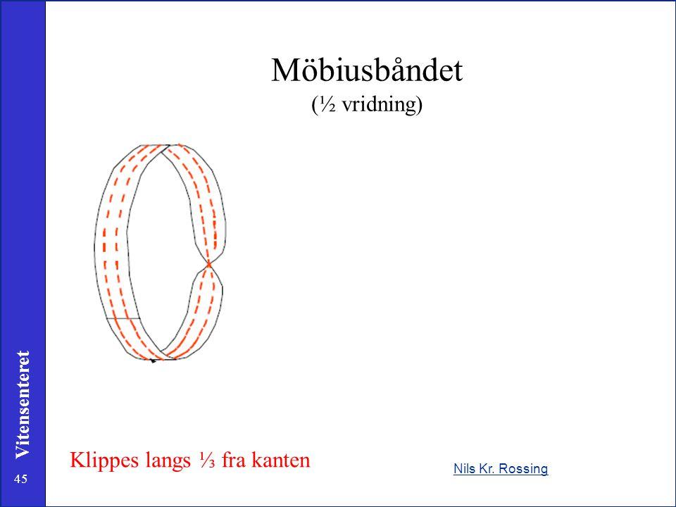 45 Vitensenteret Nils Kr. Rossing Klippes langs ⅓ fra kanten Möbiusbåndet (½ vridning)