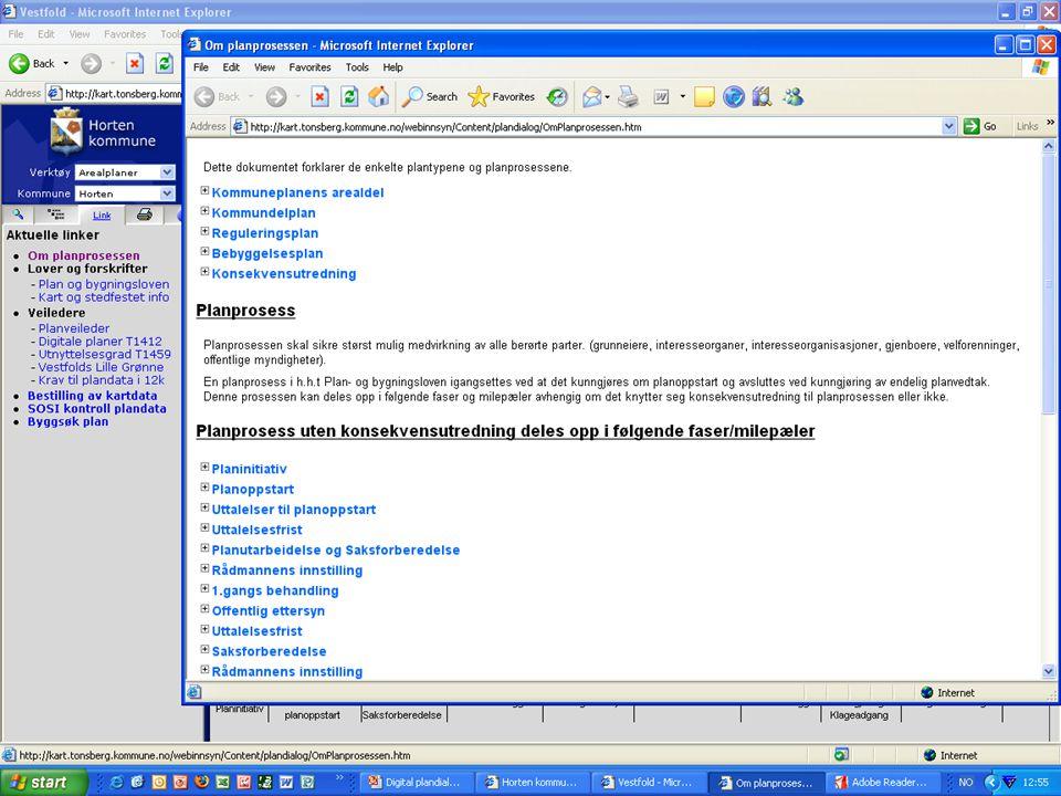 Mer informasjon •All relevant informasjon om prosjektet: –http://www.12k.no/Digital_plandialog.htmhttp://www.12k.no/Digital_plandialog.htm •Prøv løsningen fra kommunenes nettsteder.