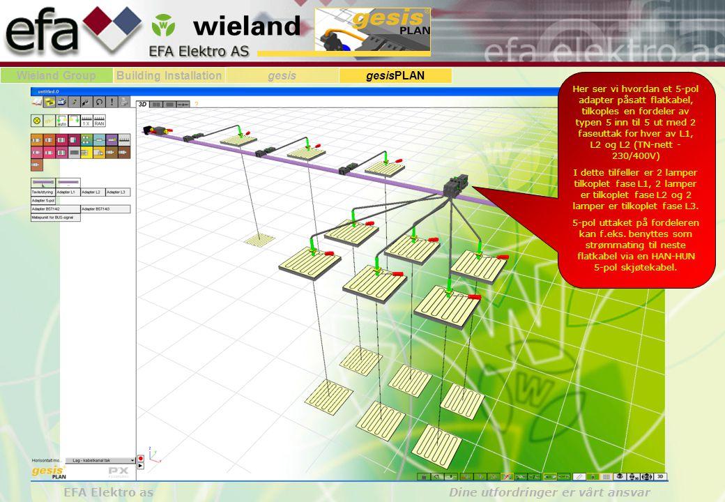 Wieland GroupBuilding Installationgesis gesisPLAN EFA Elektro as Dine utfordringer er vårt ansvar Her ser vi hvordan et 5-pol adapter påsatt flatkabel