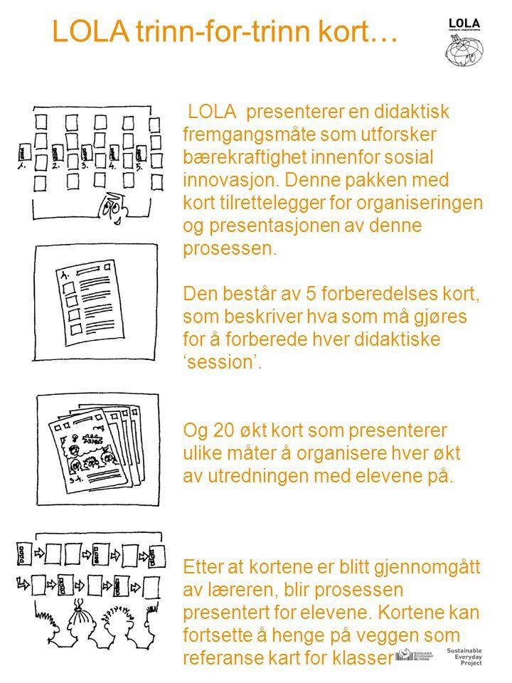 LOLA presenterer en didaktisk fremgangsmåte som utforsker bærekraftighet innenfor sosial innovasjon.