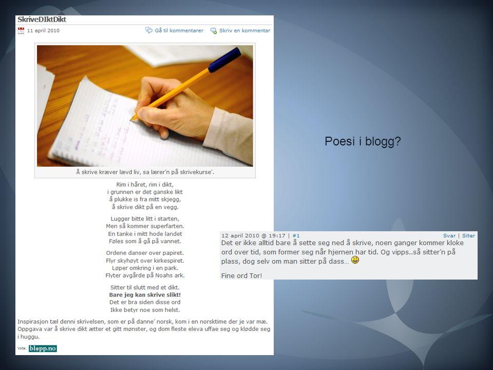 Poesi i blogg?