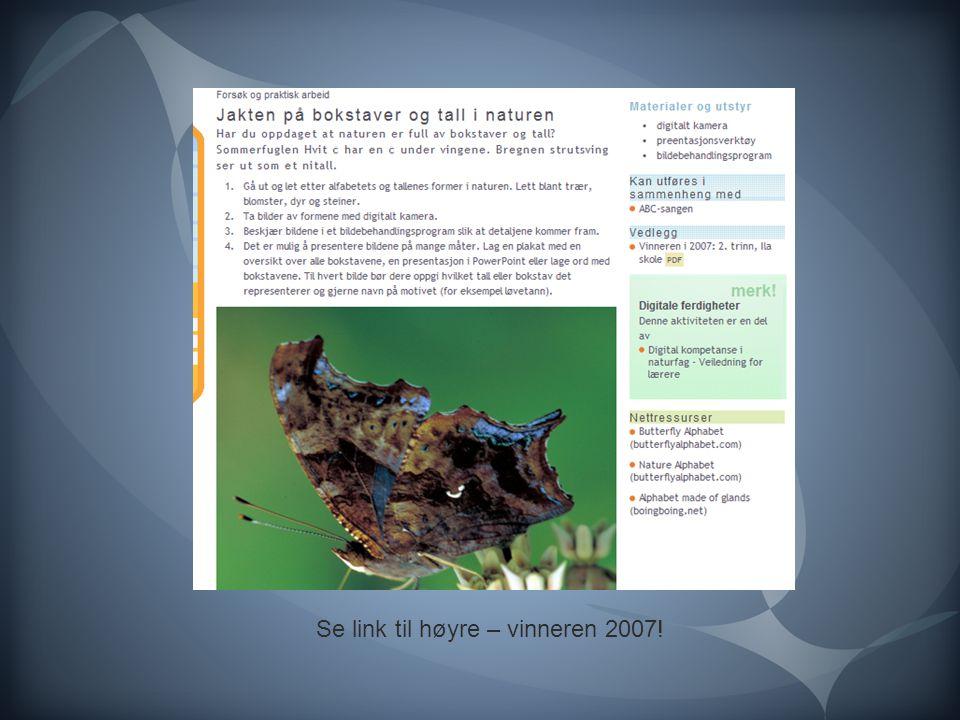 Se link til høyre – vinneren 2007!