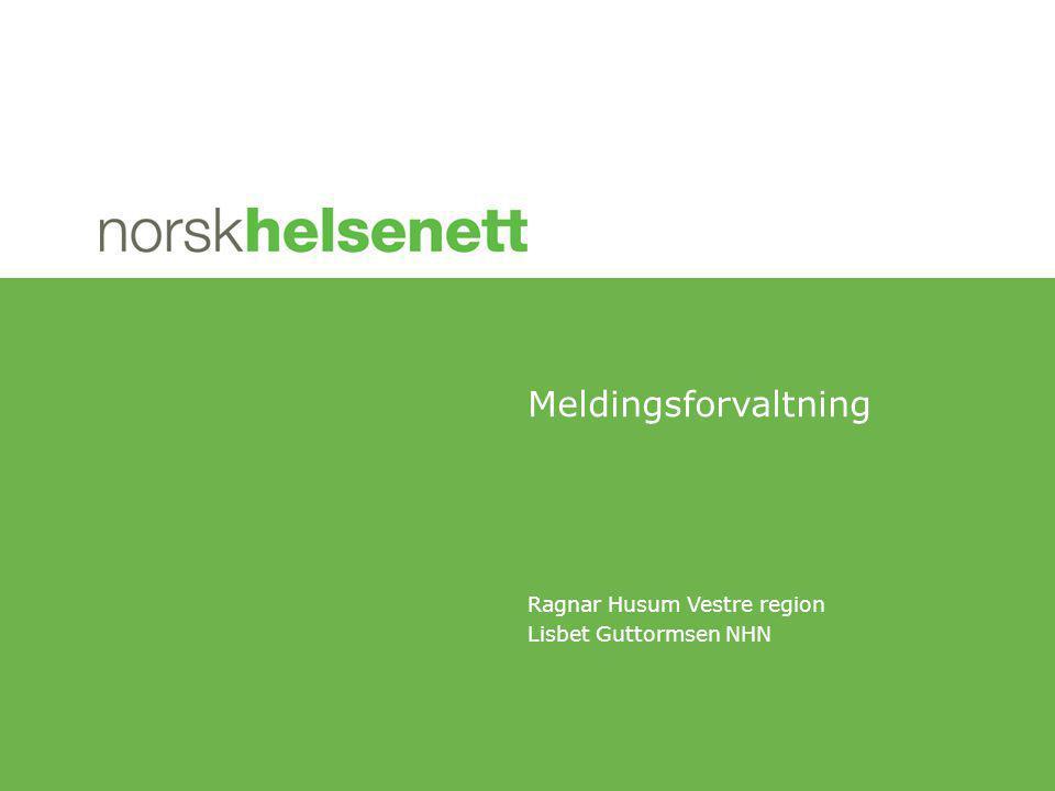 Ragnar Husum Vestre region Lisbet Guttormsen NHN Meldingsforvaltning