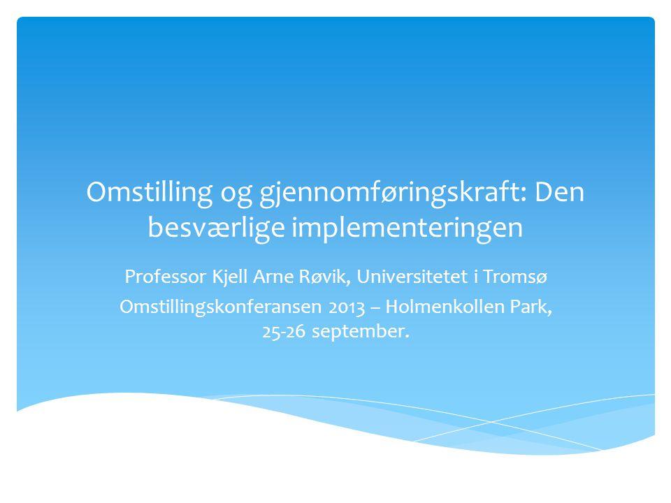 Klyngeledelse på agendaen på programmenes møteplasser Foto: Terje Borud