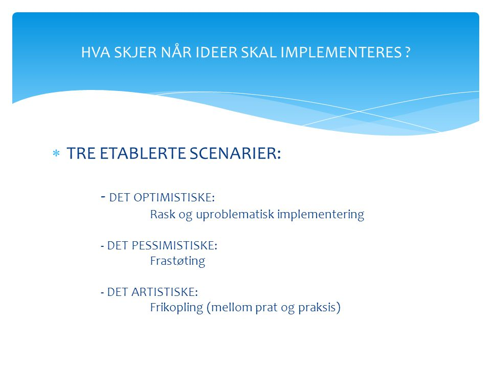 INNOVASJONS- MILJØER Helhetlig omstilling Omstillingskonferansen 2013, Holmenkollen Park Hotell, 25.-26.