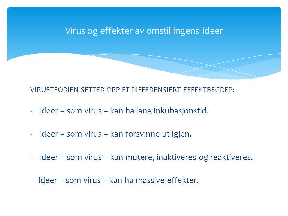 -Grunnleggende innsikt: Når ideer/oppskrifter implementeres, skjer det ikke bare noe med organisasjonen, men også med ideen.
