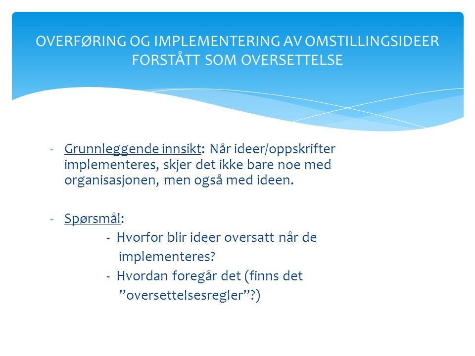 Innspill I www.regionalomstilling.no Generelt • Arbeidsplassperspektivet først, attraktivitet som støttestrategi • Alt.