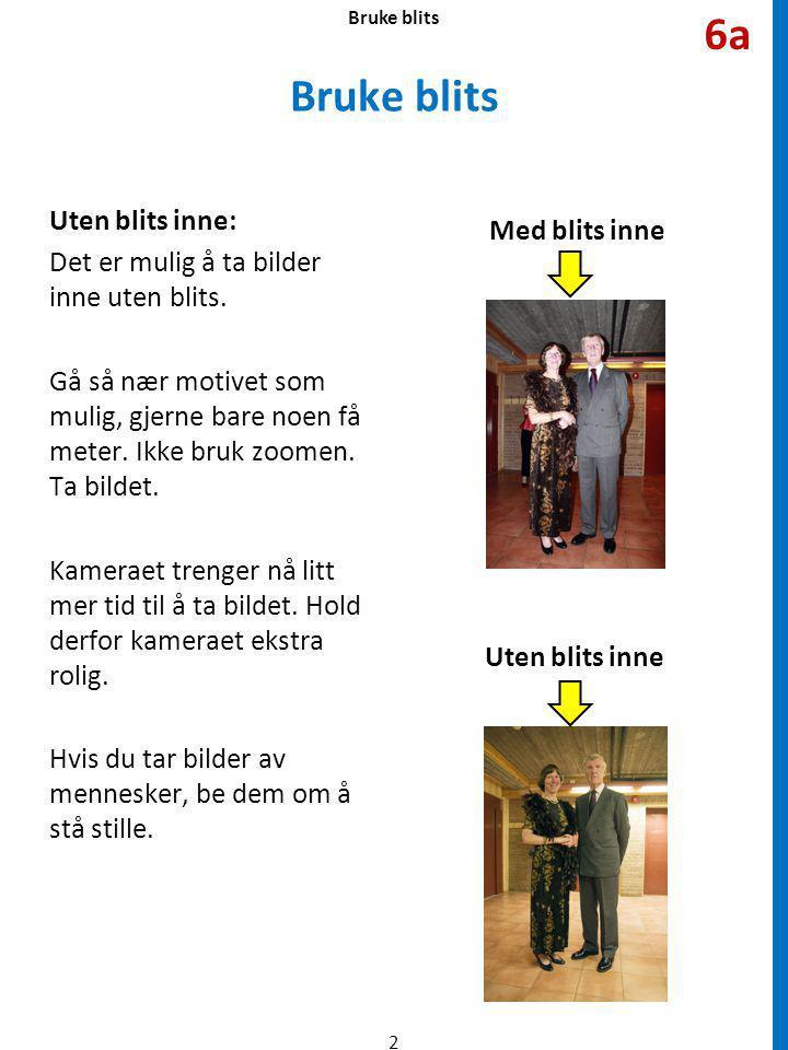 Bruke blits Blits ute: Man kan også bruke blits ute.