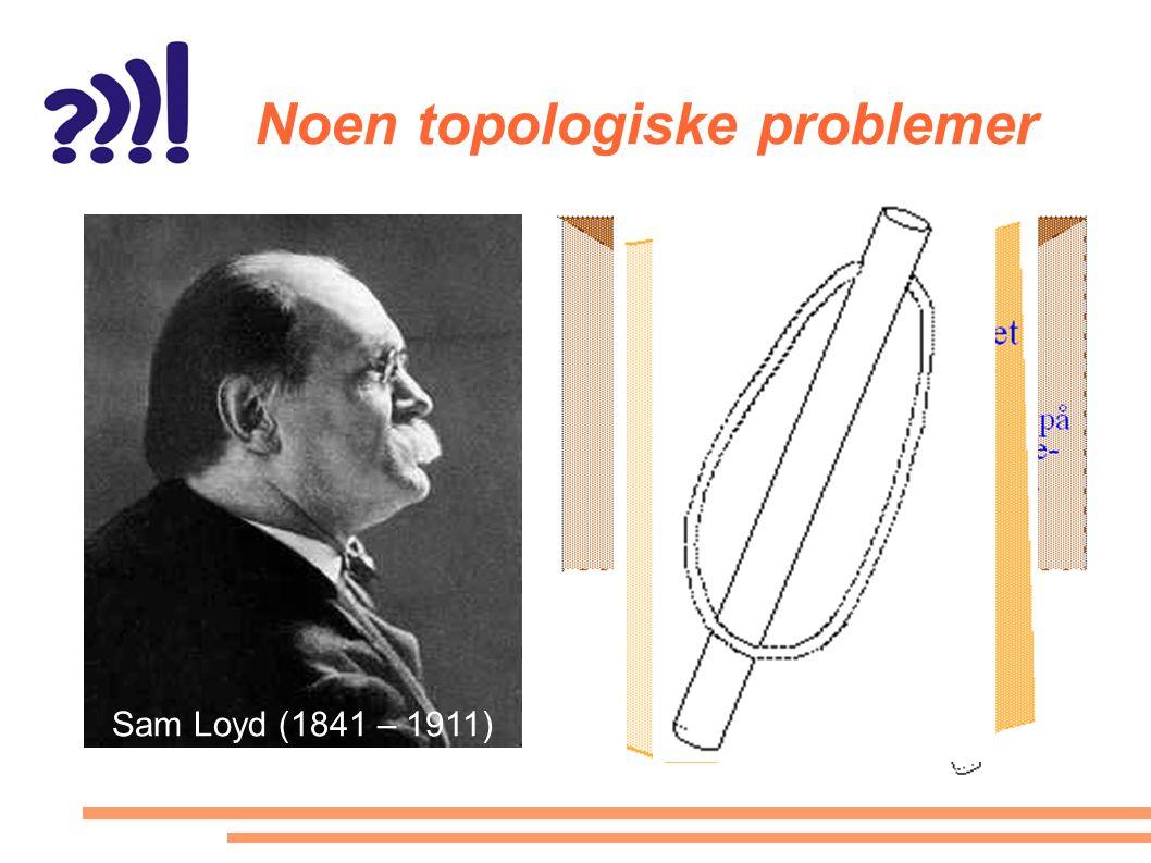 Noen topologiske problemer Sam Loyd (1841 – 1911)