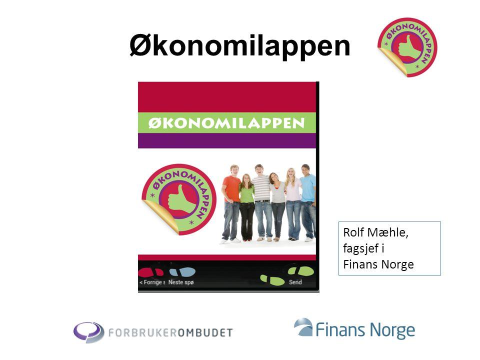 Økonomilappen Rolf Mæhle, fagsjef i Finans Norge