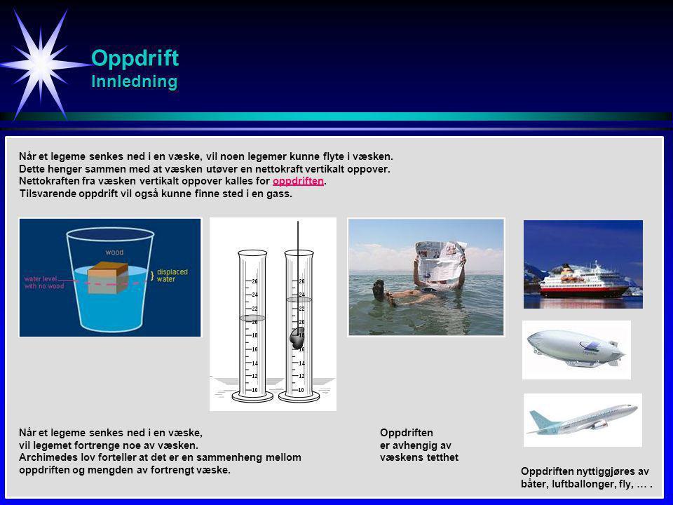 Strøming i væske / gass Luftstrøm - Fly Bernoullis ligning Flyvingen er utformet slik at luftstrømmen er større på oversiden enn på undersiden av vingen.