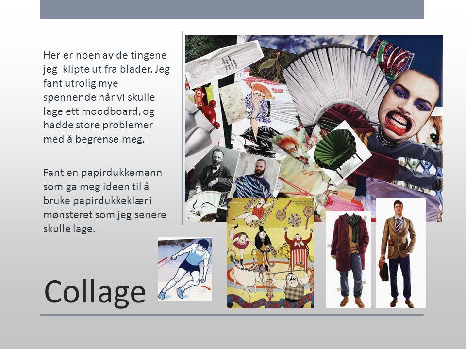 Collage Her er noen av de tingene jeg klipte ut fra blader. Jeg fant utrolig mye spennende når vi skulle lage ett moodboard, og hadde store problemer