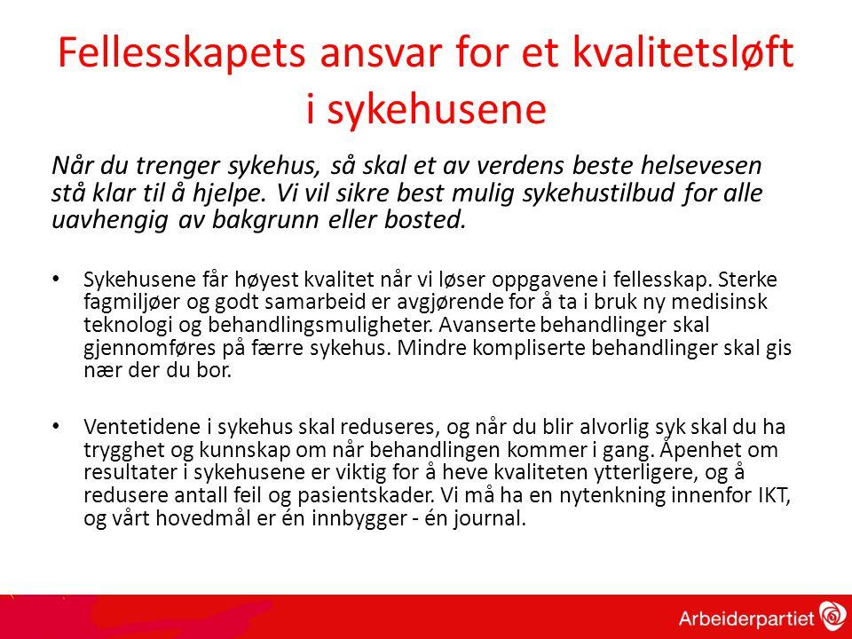 Høyre – fritt behandlingsvalg Offentlig sykehus Privat Ressurser og bemanning flyttes over til privat sykehus De som må vente går til privat sykehus, og får regningen automatisk betalt