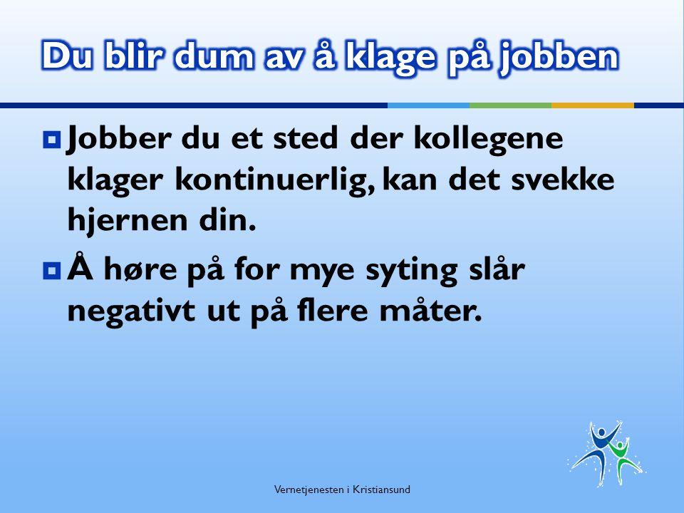Kapittel 2. Medvirkning fra arbeidstakere eller deres representanter Vernetjenesten i Kristiansund
