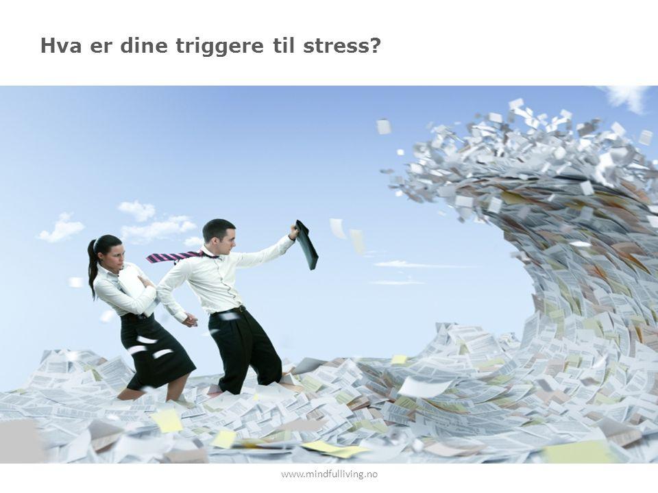 Hva er dine triggere til stress? www.mindfulliving.no
