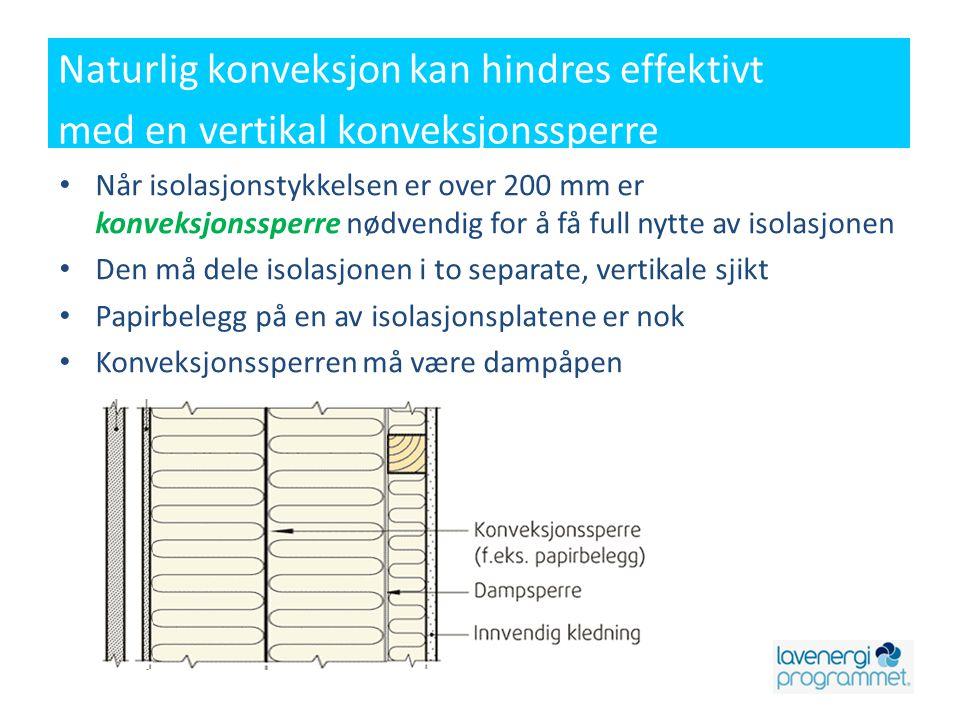Ventilasjonsanlegget må ikke monteres på kaldt loft Hele ventilasjonsanlegget, inkl.