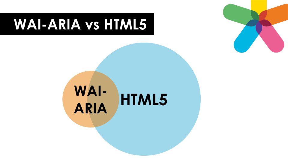Skjult og synlig informasjon • Skjule visuelt, presentere for hjelpemiddel: CSS: position: absolute; left: -20000px; • Presentere visuelt, skjule for hjelpemiddel: WAI-ARIA: aria-hidden= true • Skjule for alle: CSS: display: none;