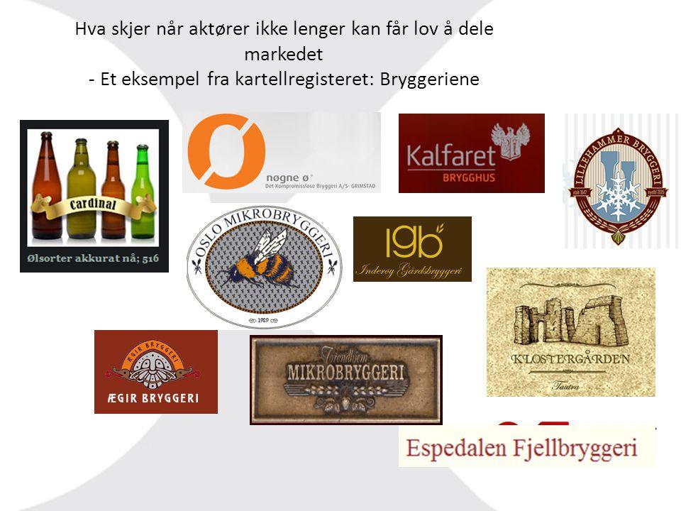 Hva skjer når aktører ikke lenger kan får lov å dele markedet - Et eksempel fra kartellregisteret: Bryggeriene
