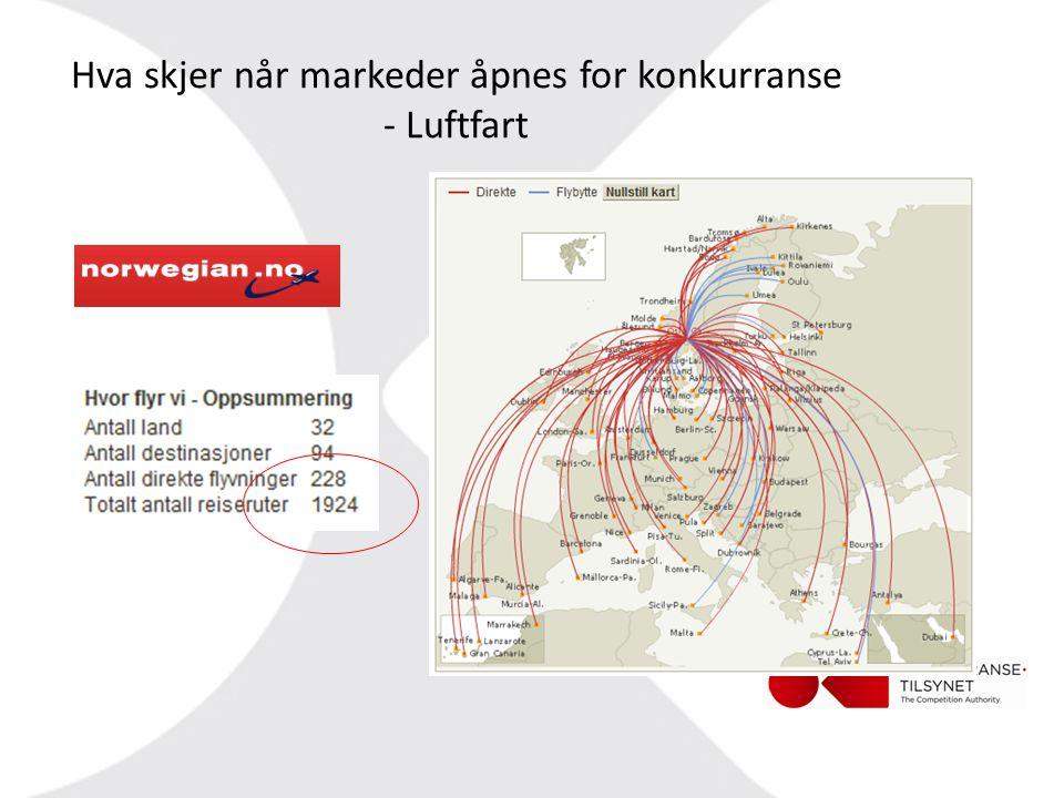 Hva skjer når markeder åpnes for konkurranse - Luftfart