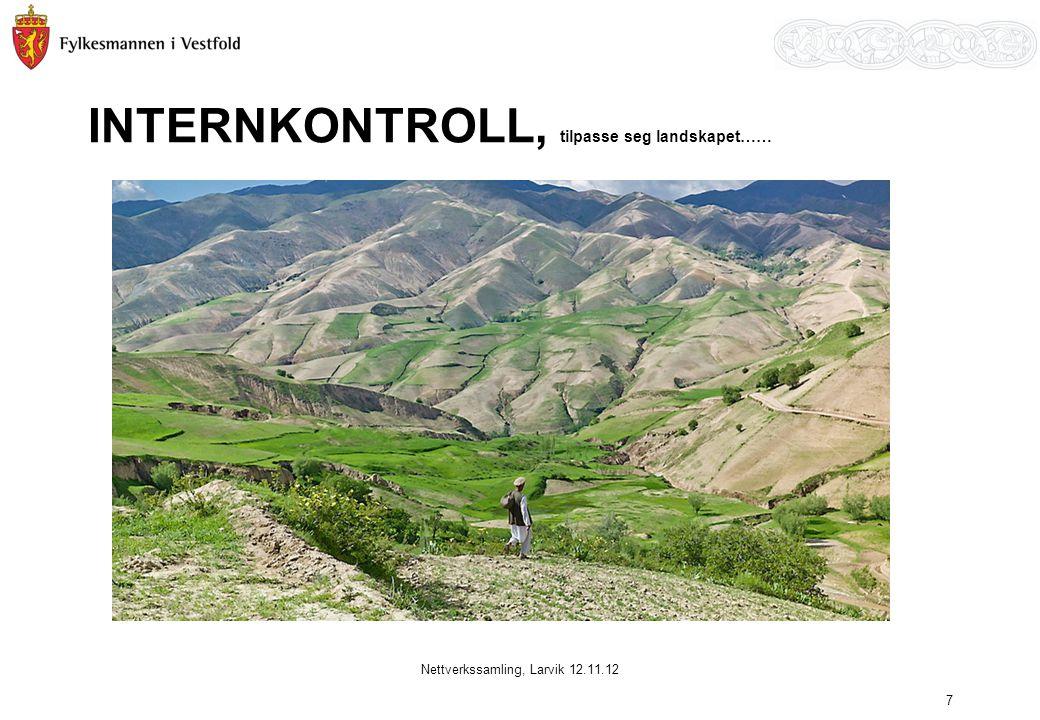 INTERNKONTROLL, tilpasse seg landskapet…… Nettverkssamling, Larvik 12.11.12 7