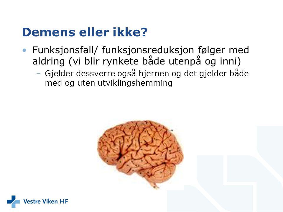 Aldring i normale hjerner •Normer kan brukes som kilde til informasjon •Vanlige tester som måler sentrale hjernefunksjoner –Sentrale for å klare dagliglivets oppgaver og utfordringer – uansett om de er store eller små