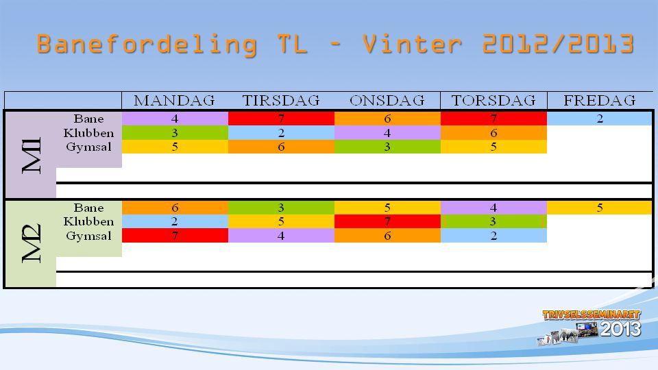 Banefordeling TL – Vinter 2012/2013