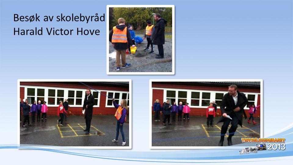 Besøk av skolebyråd Harald Victor Hove