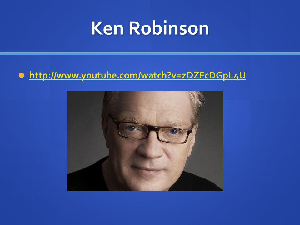 Ken Robinson  http://www.youtube.com/watch?v=zDZFcDGpL4U http://www.youtube.com/watch?v=zDZFcDGpL4U