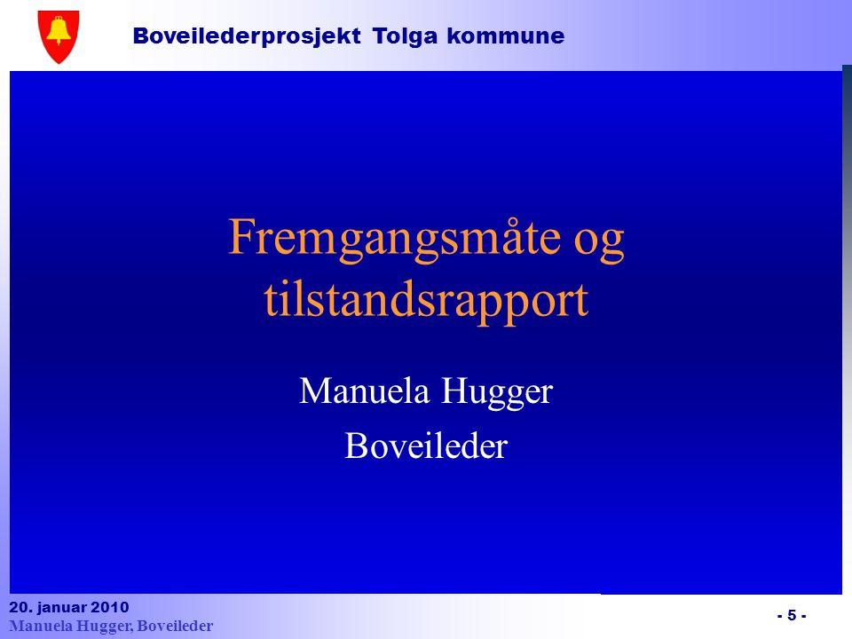 Boveilederprosjekt Tolga kommune 20.