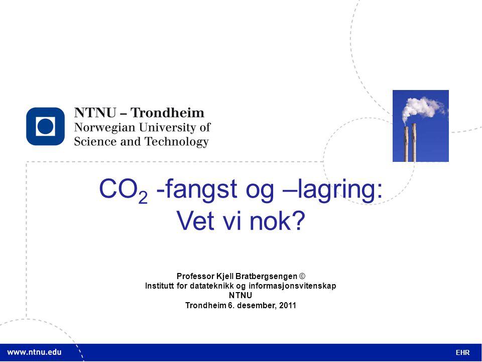 1 CO 2 -fangst og –lagring: Vet vi nok.