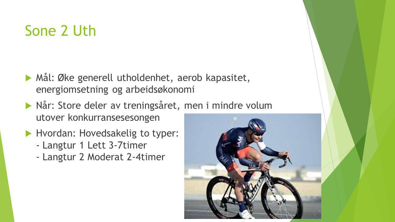 Sone 3 Tempo  Mål: Flytte terskel, muskulærutholdenhet og aerob kapasitet.