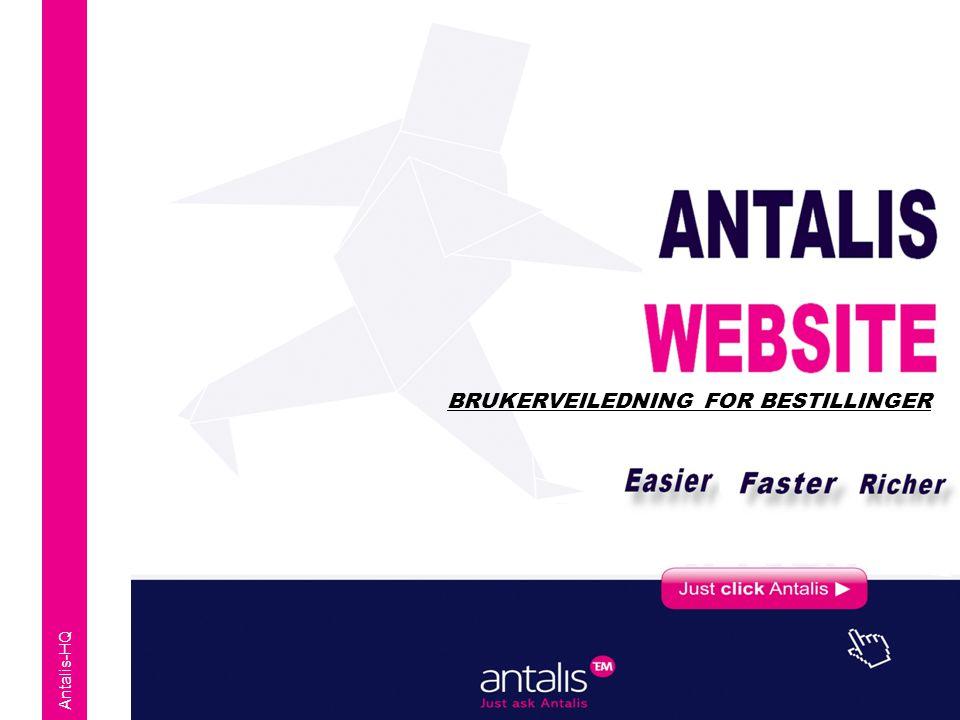Antalis-HQ BRUKERVEILEDNING FOR BESTILLINGER