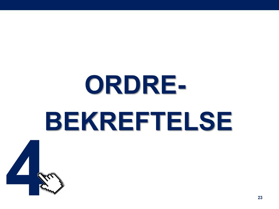 ORDRE-BEKREFTELSE 23 4