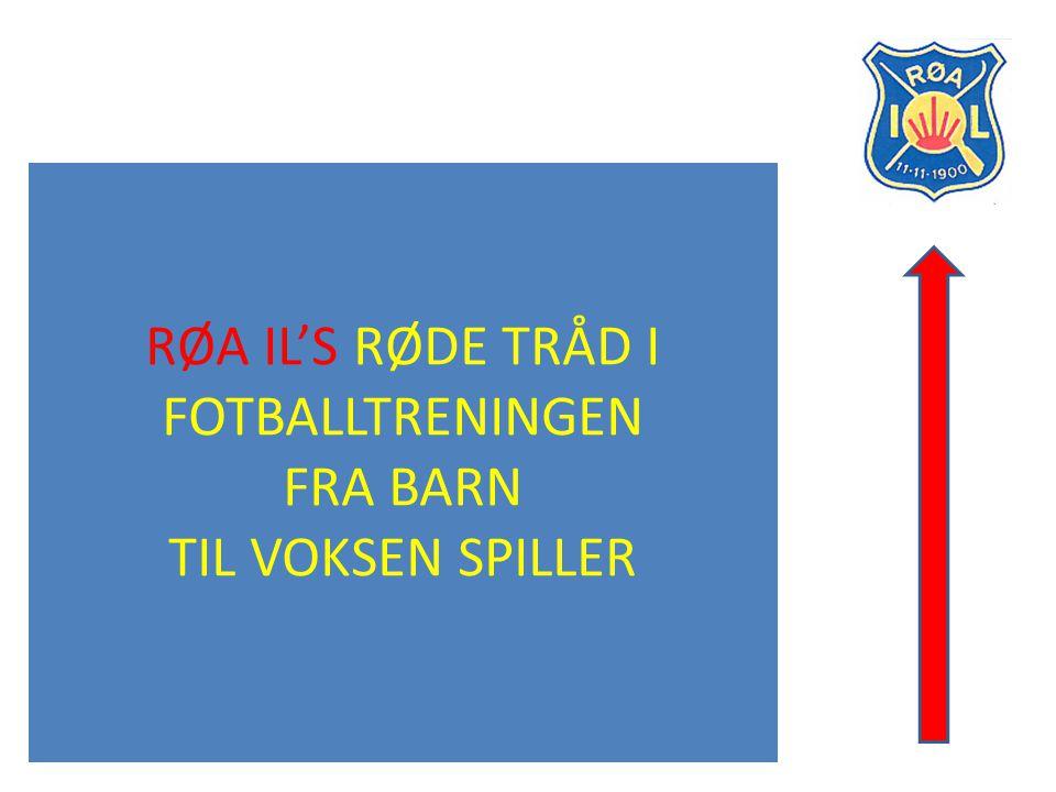 Rød tråd for fotballaktivitet Side2 Røas gode sirkler Alle som spiller fotball i Røa skal gis mulighet for utfordringer, mestring og trygghet.