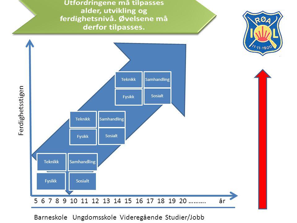 En vanlig fotballtrening i Røa (se øvelsesbanken for øvelser): 1.Oppvarming o Fotballbevegelser (gjerne i stiger) o Balløvelser 1 og 1 og 2 og 2 i basisteknikk o Uttøyning 2.Pasningsspill uten motstand (diverse pasninger fra 2 og 2 og oppover) eller firkantspill 3.Dagens tema, for eksempel avslutninger, innlegg, vending av spill, crossballer, kontringer, 1.