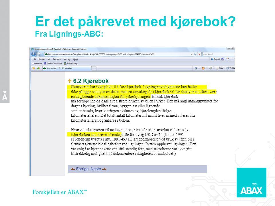 Yrkesbil •Fra Lignings ABC 2007/08 s.