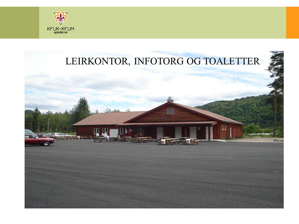 LEIRKONTOR, INFOTORG OG TOALETTER