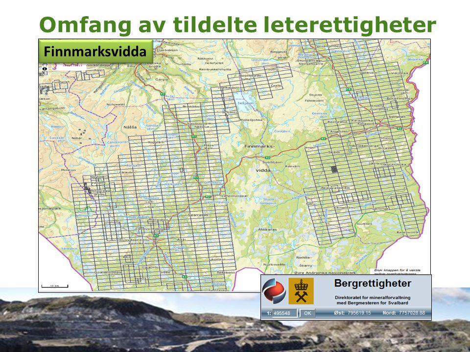 www.naturvernforbundet.no Norgga Luonddugáhttenlihttu Omfang av tildelte leterettigheter Finnmarksvidda