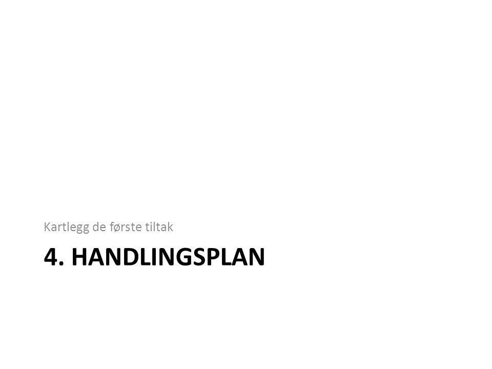 4. HANDLINGSPLAN Kartlegg de første tiltak