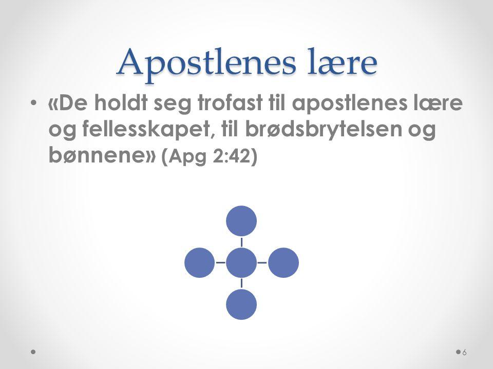 Aposteloppdraget fullført • «Dere er bygd opp på apostlenes og profetenes grunnvoll, med Kristus Jesus selv som hjørnesteinen» (Ef 2:20) • Profetene = profetene i GT 7