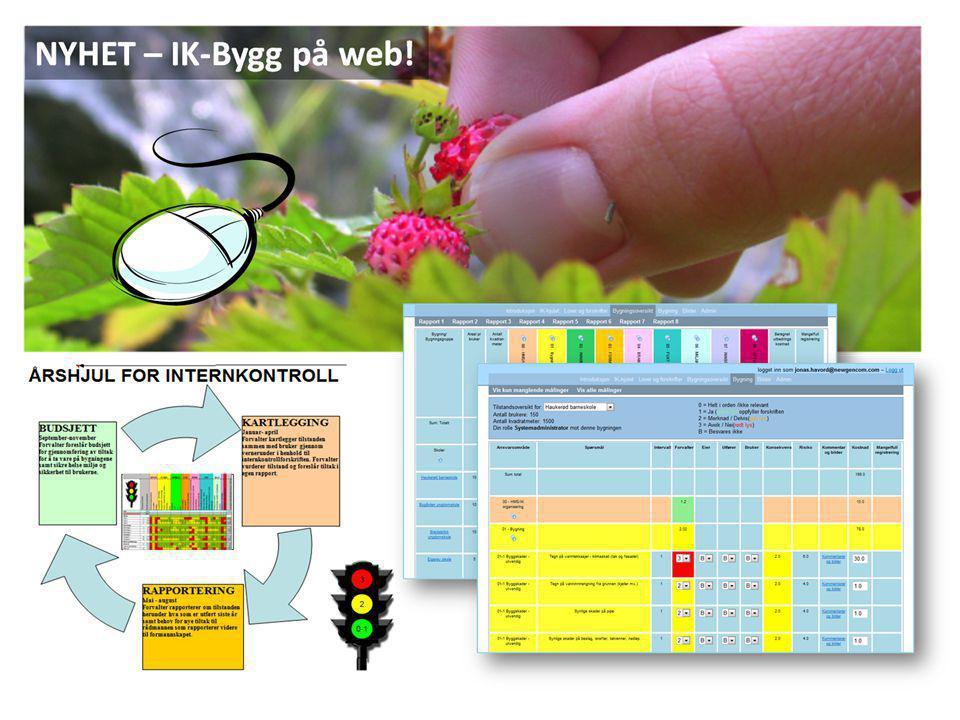 IK-Bygg på web: Formål IK-Bygg web skal bidra til å avdekke avvik i forhold til helse, miljø og sikkerhet.