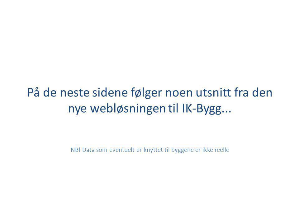 Velkommen til IK-Bygg på web.