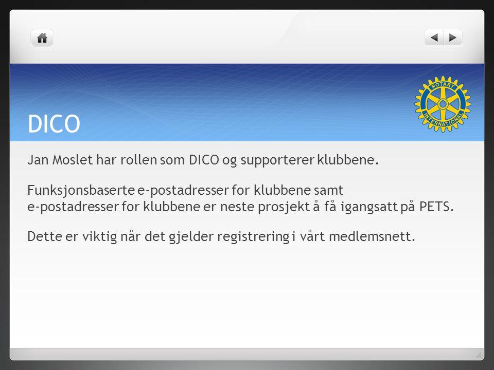DICO Jan Moslet har rollen som DICO og supporterer klubbene.