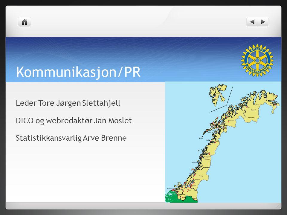Kommunikasjon/PR Leder Tore Jørgen Slettahjell DICO og webredaktør Jan Moslet Statistikkansvarlig Arve Brenne