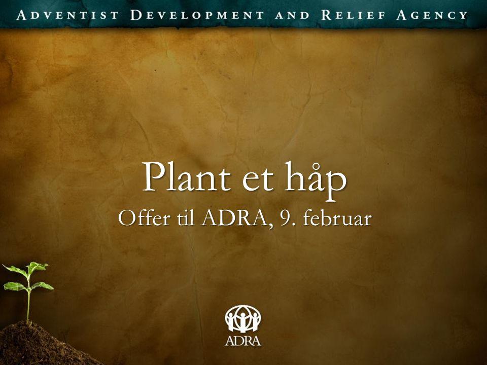 Plant et håp Offer til ADRA, 9. februar