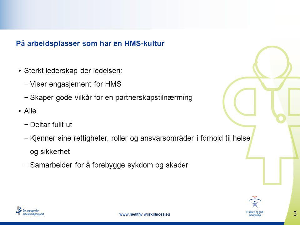 4 www.healthy-workplaces.eu Hvorfor skal du engasjere deg.
