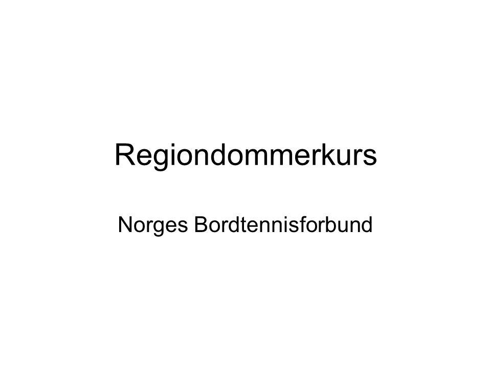 Regiondommerkurs Norges Bordtennisforbund