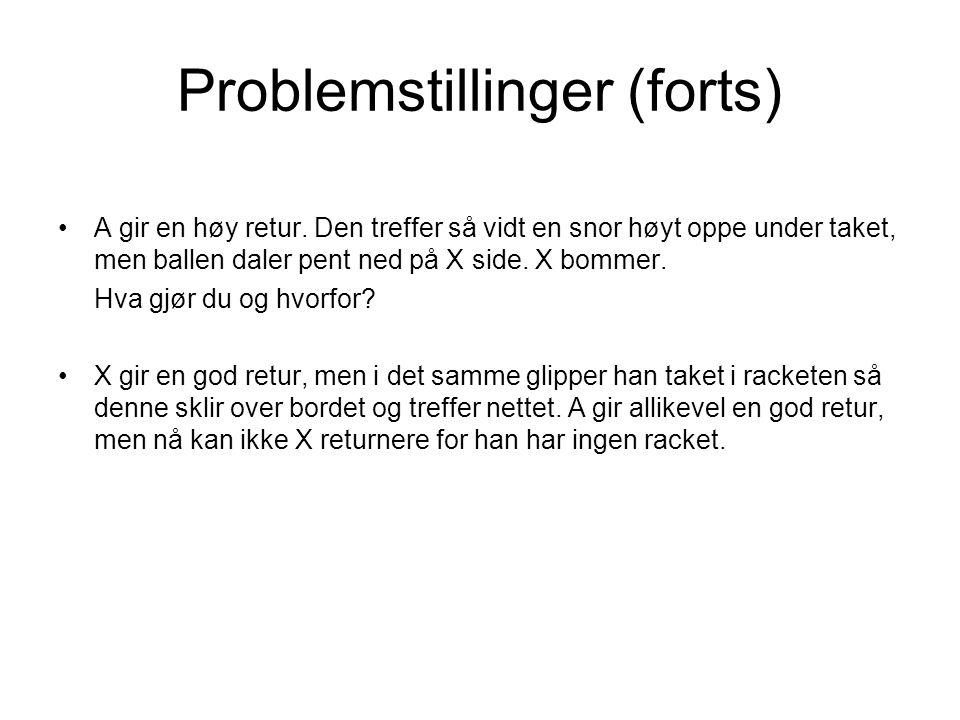 Problemstillinger (forts) •A gir en høy retur.