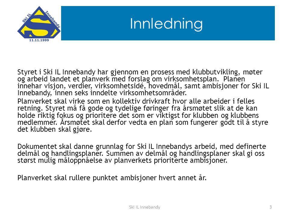 Innledning Styret i Ski IL Innebandy har gjennom en prosess med klubbutvikling, møter og arbeid landet et planverk med forslag om virksomhetsplan.